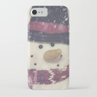 snowman iPhone & iPod Cases featuring Snowman by Photography and Fine Art by Pamela