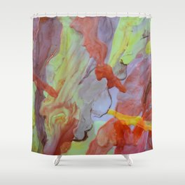 Brass Yellow Shower Curtain