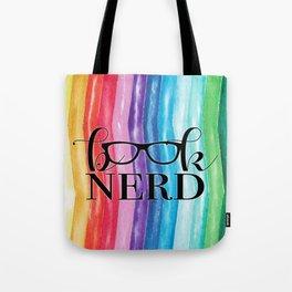 Book Nerd Rainbow Tote Bag