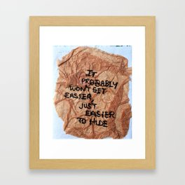 crumple Framed Art Print