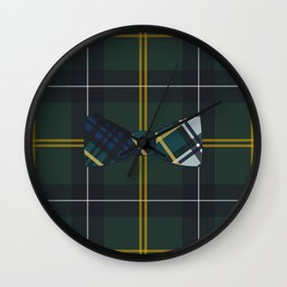 Plaid on Plaid Wall Clock