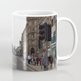 Buses along Princes Street Edinburgh Coffee Mug