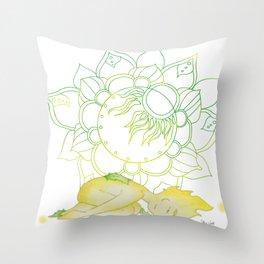 Pose yoga rock - Small Ray of Sunshine Throw Pillow