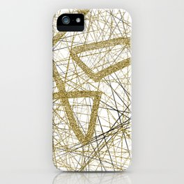Glitter and gold iPhone Case