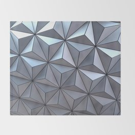 Spaceship Earth Throw Blanket