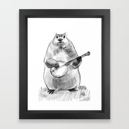 Chester and the Banjo Framed Art Print