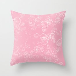 Bubbles Neck Gator Pink Bubbles Throw Pillow