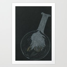 Crow in a Bottle Art Print