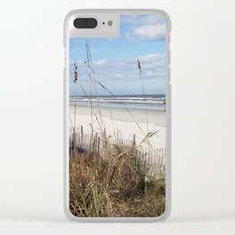 Screen of Sea Oats Clear iPhone Case
