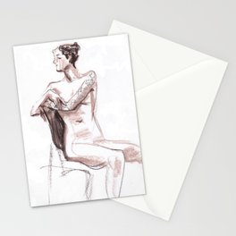 Nude model, life sketch Stationery Cards
