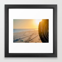 BEACH GOINGS Framed Art Print