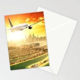 traveling in dubai Stationery Cards