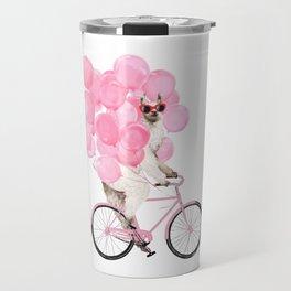 Riding Llama with Pink Balloons #1 Travel Mug