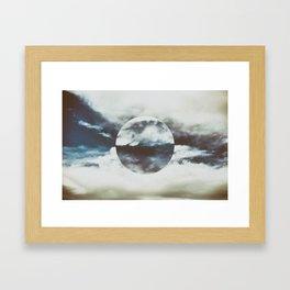 white and blue Framed Art Print