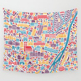 Munich City Map Poster Wall Tapestry