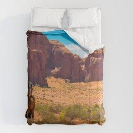Image Horses USA Crag Desert Nature Grass animal horse Rock Cliff Animals Comforters