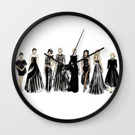 Golden Globes Glam Wall Clock