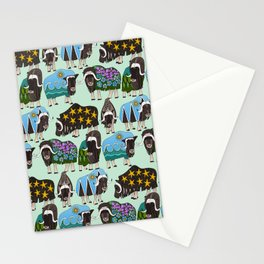 Alaskan musk ox mint Stationery Cards