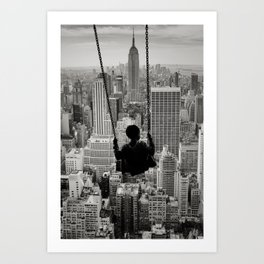 Playground Swings by GEN Z Art Print