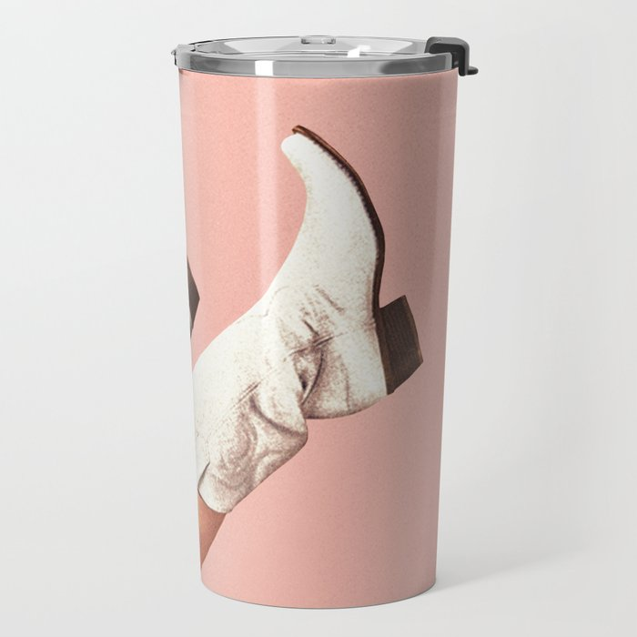 These Boots - Pink Travel Mug