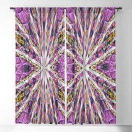 Purple Kaleidoscope Abstract Retro Groovy Blackout Curtain