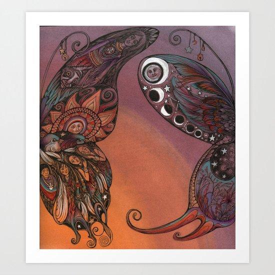 Magic Butterfly Wings Art Print