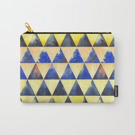 Sunrise over the mountain - geometric watercolour Carry-All Pouch