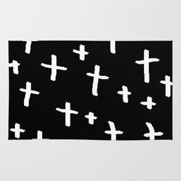 white cross Rug