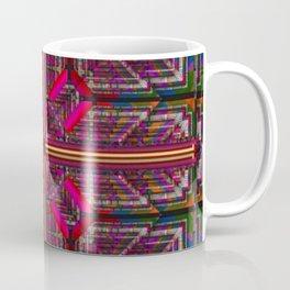 no. 125 pink yellow green pattern Coffee Mug