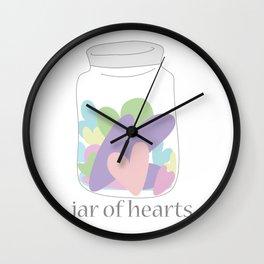 Jar of Hearts Wall Clock