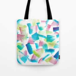 180719 Koh-I-Noor Watercolour Abstract 9 | Watercolor Brush Strokes Tote Bag