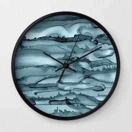 Alcohol Ink Waves Wall Clock