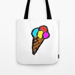Colored Ice Cream... Tote Bag