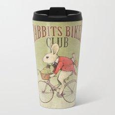 Rabbits Biker Club Metal Travel Mug