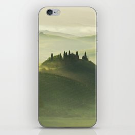 Foggy morning in Toscany iPhone Skin