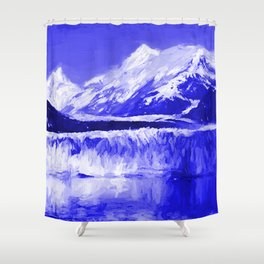 Glacier Bay Blue Shower Curtain