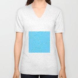 Shattered Glacial Polygons - Voronoi Stripes Unisex V-Neck