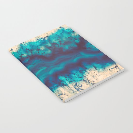 Blue Agate River of Earth Notebook