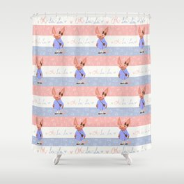 Little Missy  Aardvark in France! Shower Curtain