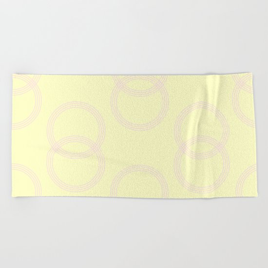 Simply Infinity Link Pink Flamingo on Pale Yellow Beach Towel