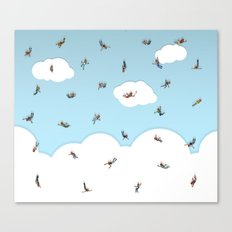 SkyDivers! Canvas Print