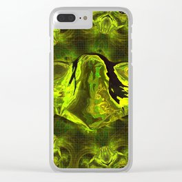 UFO Green Gold Clear iPhone Case