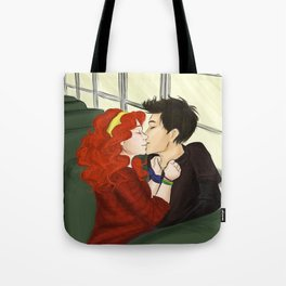 On the bus Tote Bag
