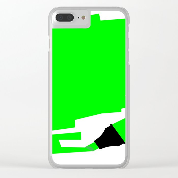 Green Marker Copy Space Clear iPhone Case
