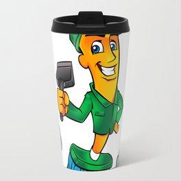 Broom cartoon Travel Mug