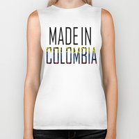 colombia Biker Tanks featuring Made In Colombia by VirgoSpice