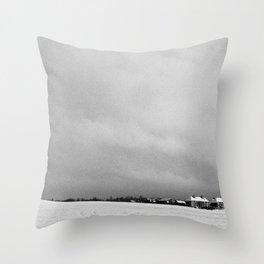 Snowscape, Scotland. Throw Pillow