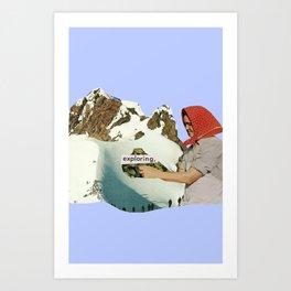 Exploring Art Print