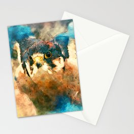 Peregrine in the Clouds Stationery Cards