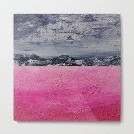 Pink Desert / Acrylic Painting Metal Print